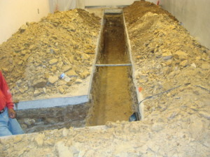room 2 soil and concrete exposed